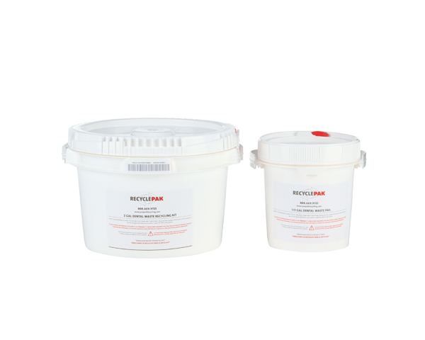 SUPPLY-062- DENTAL WASTE RECYCLING PAIL